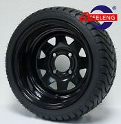 Golf Cart 12 Black Steel Wheels And 215/35-12 Dot Low Profile Tires4