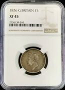 1826 Silver Great Britain 1 Shilling King George Iv Coin Ngc Extremely Fine 45