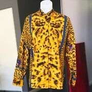 Versus By Gianni Versace Cotton Womenand039s Shirt Animal Print Size 42 From Ss 1992