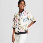 Bagatelle Collection Floral Bomber Jacket Woman's Size Small