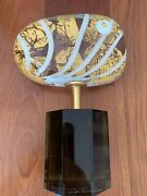 Pino Signoretto Hand Made Murano Glass With Gold Leaf Signed Date On The Bottom