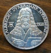 Germany Prussia- 1928 400th Ann. Death Albrecht Durer Silver Medal Proof Ar