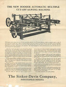 Vintage 1934 Mailing For Commercial Woodworking Machinery Pictures And Prices