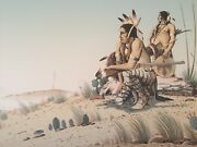 Donald Vann Cherokee Artist Proof Litho On Sketch Paper V Rare Sold Out 25 X18