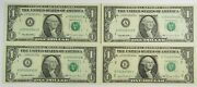 X4 Consecutive Serial 1995 Fr-1921-a Unc 1 Frn Federal Reserve Note 21970f