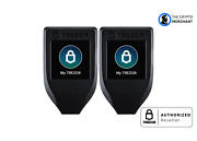 2 Pack Trezor Bitcoin And Altcoins Hardware Wallet Model T Authorized Retailer
