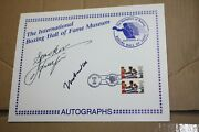 Boxing Hof First Day Cover Commemorative Cachet Signed By Ali And Frazier Jsa Loa