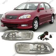 For Toyota Corolla 2003-2004 Clear Fog Lights Bumper Fog Driving Lamps W/switch