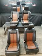 2009 Ford Expedition Ltd. Brown/black Leather Set Of Front 2nd And 3rd Row Seats
