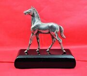 Vintage Sterling Silver Horse Figurine And Plinth E Barnard And Son Ltd London 1970