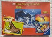 Ravensburger Jigsaw Puzzle Combo Pack 1000 And 500 Piece Puzzles + 1 Paint By Num