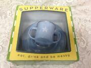 Blue Star, Childs 3-pc Enamelware Cup, Bowl And Plate Set In Orig. Box