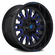 Fuel Stroke Wheels D645 22x12 8x170 Gloss Black/blue And Milled F250 Gm2500