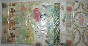 Lot Of 12 Unopened Pkgs Vintage Flat Fold Wrapping Paper Plus 7 Sheets Various