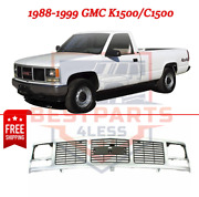 New Grille, Silver Plastic For 1988-1999 Gmc K1500 / C1500
