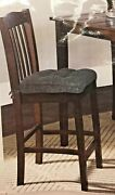 Whitley Willows Reversible 2 Pack Plush Chenille Chair Pads Cushions Gray New