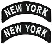 New York Black Patch [lot Of 2] Embroidered Iron Or Sew On Patches City Nyc Ny