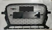 For 2013 13 14 15 16 17 Audi Q5 Rsq5 Style Glossy Black Grille Grill Black Ring
