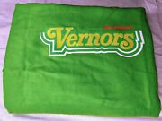 Vintage The Original Vernors Pop Acrylic Blanket Faribo Made In Usa 65x48 Green