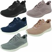 Ladies Skechers Bobs Squad - And039tough Talkand039 32504 Lace Up Sporty Trainers