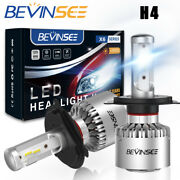 Bevinsee H4 9003 Led Headlight Dual Beam Bulb For Kia Rio Soul Spectra Sportage