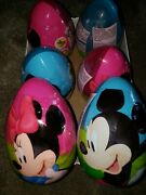 Disney Mickey And Minnie Plastic Surprise Egg With Toy And Candy -3 Of Each Eggs