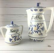 Vintage Heritage By Royal Sealy Japan Coffee Pot And Sugar Bowl With Lid