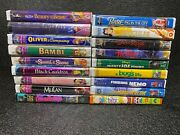 Walt Disney Vhs Tapes Masterpiece Collection Movies Classics Lot 18
