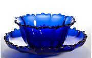 Bohemian Cut Glass Finger Bowl And Under Plate