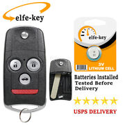 For 2007 2008 Acura Tl Keyless Entry Remote Flip Key Fob Oucg8d-439h-a Id46 Chip