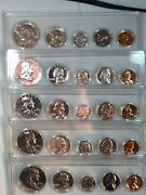 1960 1961 1962 1963 1964 Silver Proof Sets-franklin/kennedy-5 Sets-25 Coinsd25