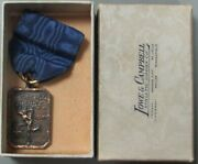 1929 Chicago Daily News Trophy Basketball Championship Sports Award Boxed