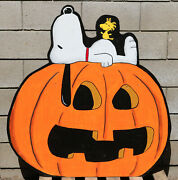 Snoopy And Woodstock Peanuts The Great Pumpkin Yard Lawn Decor Made In Usa