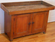 1800and039s Dry Sink 2 Door Original Wood Ornate Hinges Pick Up New Jersey 08865