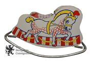 Old Childrens Rocking Horse Ride Bouncy Pony Sleigh Circus Swing Chair 32