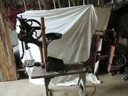 Antique Drill Press And Arbor Press, Made In Lancaster Pa And Chicago, Working