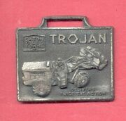 Vintage Trojan Loader - Eaton Yale And Towne - Pewter Type Watch Fob