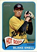 Blake Snell Signed 2014 Topps Heritage 96 Autographed Hot Rods 58886