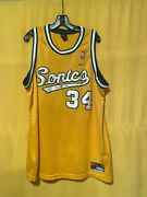 Signed Ray Allen 34 Seattle Sonics Jersey Extremely Rare