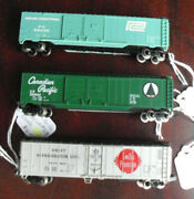 Lot Of 3 Bachmann Atlas N Scale Reefer And Box Cars Swift Pc And Cp