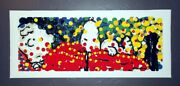 Everhart Pillow Talk Unsigned Lithograph Snoopy Charlie Brown Peanuts
