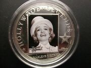 Cook Islands 2012 Hollywood Legends Iii Marlene Dietrich 25g Silver Coin Proof