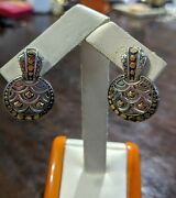 John Hardy 18kt And Sterling Silver Earrings From Dot Collection