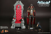 Space Pirate Captain Harlock Mms - Captain Harlock With Throne Hot Toys