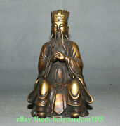 11 Old Chinese Copper Gem Civil Official Feudal China Prime Minister Statue