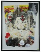 Spook Clown Circus Life By Ford Beckman 1993 Mixed Media Abstract Modernist