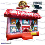 15x15ft Commercial Inflatable Hello Kitty Bounce House Bouncy With Air Blower