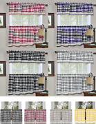 Country Farmhouse Plaid Kitchen Curtain Tier And Valance Set - Assorted Colors
