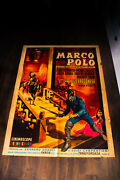 Marco Polo 39 X 55 Italian Two Sheet Movie Poster Original 1950and039s