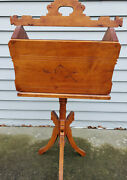 Unique Ooak Victorian Eastlake Style Sewing / Knitting Caddy Stand Pick-up Only